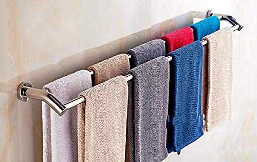 Moban Handtuchhalter mit 2 Stangen, zur Wandmontage, Edelstahl, Badetuchhalter für Küche oder Bad, 100 cm