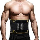 Rückenbandage Rücken Gurt - Rückenbandage Sport Rückenstützgürtel Fitness Rückengurt mit Stabilisierungsstäben und Zuggurt zur effektvoller Schmerzreduktion und Haltungskorrektur für Damen Herren