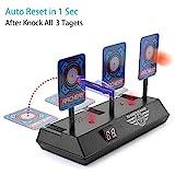 EKKONG Zielscheibe für Toy Gun, Auto Reset Elektro-Schießscheiben,Digitale Ziele mit hellem Soundeffekt