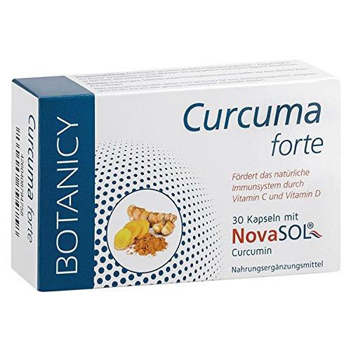 Curcuma Forte mit NovaSol Curcumin - Das wohl beste Curcuma (Kurkuma/Turmeric) der Welt mit flüssigem Curcumin - Hochdosiertes Mizell-Curcuma ohne Piperin/Pfeffer - 30 Kapseln (Monatspackung)