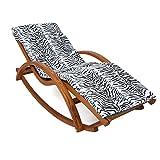 Relax Schaukelstuhl Rio braun   Gartenliege aus vorbehandeltem Holz wetterfest   Relaxliege mit Armlehnen & Auflage   Stuhl Bespannung braun