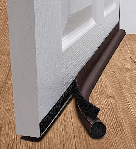 deeToolMan Zugluftstopper 91,4 cm: einseitig Tür Isolator Selbstklebende Klettverschluss/Dichtung passt zu Unterseite der Tür/Unter Tür Draft Blocker/Tür Wetter Leiste (braun)