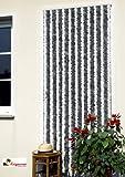 Türvorhang Flauschvorhang Insektenschutz 115x230 cm-silberweiss NEU!