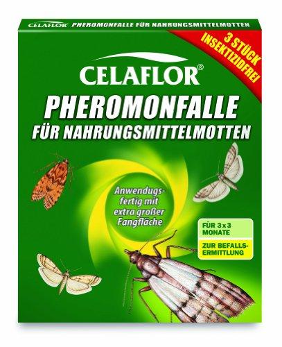 Celaflor 1396 Pheromonfalle für Nahrungsmittelmotten, 3 Stück