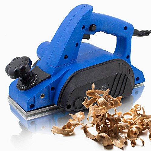 BITUXX Elektrohobel 600W Hobel elektrisch 82 mm Falzhobel Stufenhobel Handhobel Fräse Hobelbreite: 82mm Spantiefe: 0-2mm Falztiefe: 10mm