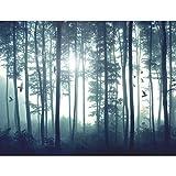 Fototapete Wald - Vlies Wand Tapete Wohnzimmer Schlafzimmer Büro Flur Dekoration Wandbilder XXL Moderne Wanddeko - 100% MADE IN GERMANY - 9326010a