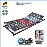 Ravensberger Matratzen Meditec Lattenrost | 5-Zonen-TPEE-Teller-Systemrahmen | Schichtholzrahmen| verstellbar| MADE IN GERMANY - 10 JAHRE GARANTIE | TÜV/GS 100 x 200 cm