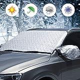 OFNMY Windschutzscheibenabdeckung hochwertige Frontscheibe Schnee Frost Sonnenschutz Abdeckung Eisschutzfolie(148 * 118cm)