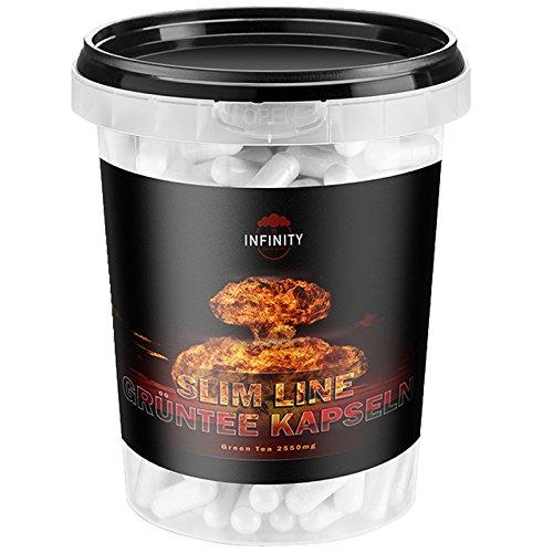 600 Kapseln - Slim Line Grüntee Extrakt, Green Tea, Hochdosiert - 850mg pro Kapsel, Grüner Tee