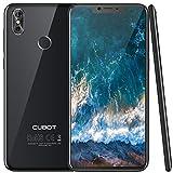 Cubot P20 (2018) Android 8.0 4G-LTE Dual SIM Smartphone ohne Vertrag Ultra dünn 6.18″(19:9) In-Cell Screen FHD Display (2246×1080px) mit 4000 mAh Akku, 4GB Ram+64GB interner Speicher, Schwarz