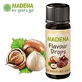 MADENA Flavour Drops/Flavor Drops | Nuss Nougat | natürliches Aroma | vegan | zuckerfrei | darmfreundlicher Milchsäurebildner | 30ml | made in Germany