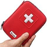 MediSpor 100-teiliges Erste Hilfe Set, halbharte Tasche (rot)