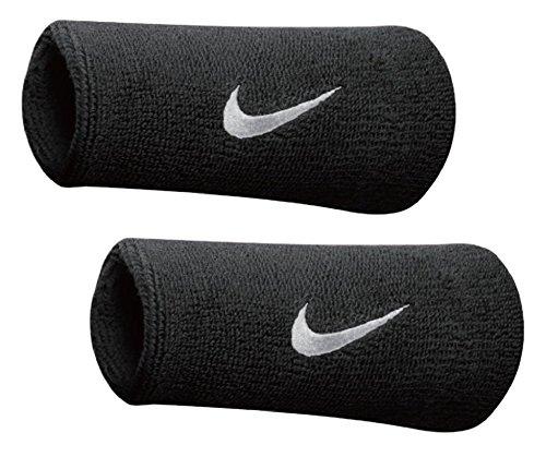 Nike SWOOSH DOUBLE-WIDE WRISTBANDS schwarz - MISC