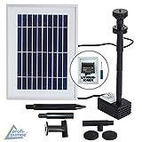 NEU! Innovative SOLAR TEICHPUMPE Oasis 200-3 Li&LED Solar-Teichpumpen-Set mit AKKU LED LICHT GARTENBRUNNEN SPRINGBRUNNEN für Gartenteich Solarbrunnen Springbrunnen mit STABILEM ALU-Rahmen