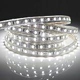 Led Band 2M, Heller Lichtleiste mit Schalter, 5050 Led Stripe IP65 Wasserdicht, Kaltweiß