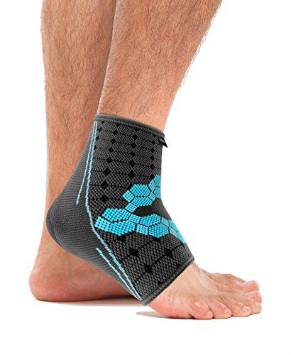 bonmedico Ekto (NEU!), Fuß-Bandage Mit Wärmefunktion Für Bessere Blutzirkulation im Fuß - Sehr hoher Tragekomfort Im Schuh Ohne Druckstellen - Für Frauen und Männer (M) (links/rechts)