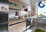 Küche 240cm von FIWODO - ERWEITERBAR - günstig + schnell - Einbauküche Junona Line Set 240 - 4 Fronten wählbar (EICHE / EICHE))