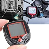 AOLVO Fahrradcomputer, Wasserdichter Tachometer, Fahrrad-Kilometerzähler, für Radfahren, Geschwindigkeit und Entfernung