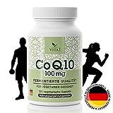 Coenzym Q10 Kapseln - hochdosiert 100mg • 120 Kapseln (4 Monatsvorrat) • Für mehr Energie & Ausdauer und zur Stärkung von Herz-Kreislauf- & Immunsystem • Hergestellt in Deutschland