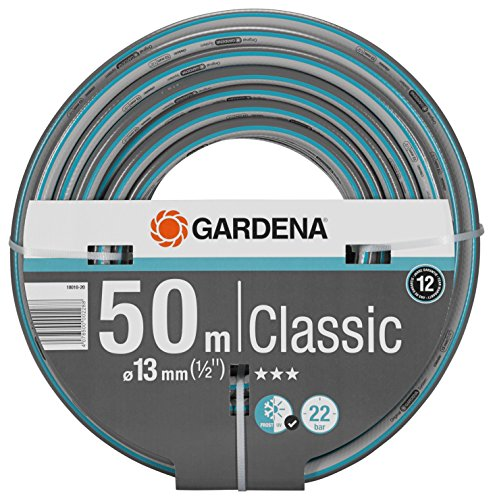 GARDENA Classic Schlauch 13 mm (1/2'), 50 m: Universeller Gartenschlauch aus robustem Kreuzgewebe, 22 bar Berstdruck, druck- und UV-beständig (18010-20)