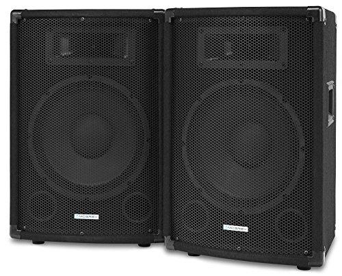 Paar McGrey TP-10 DJ PA Lautsprecher Box 25cm (10') Subwoofer 400W (Passiv, 2-Wege System, Holzgehäuse)