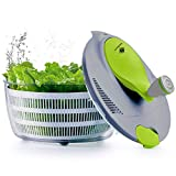 Kalokelvin Salatschleuder, 4 Liter salatschleuder mit Deckel, Obst und Gemüse Trockner