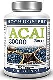 ACAI Beery – 30.000 mg HOCHDOSIERT – VEGAN – 150 Acai Tabletten