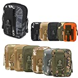 ZhaoCo Taktische Hüfttaschen, Nylon Militär Kompakt MOLLE EDC Handytasche Gürteltasche Beutel für Gadget-Dienstprogramm Camping Wandern Reise - Schlange