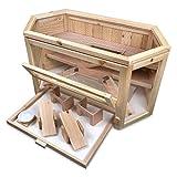 Julido Hamsterkäfig 6-eckig Kleintierkäfig aus Holz mit viel Zubehör