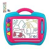 Peradix Zaubertafel Maltafel Magnetische für Kinder, Zeichentafeln Magnetmaltafel 35*30cm,Bunte Zeichenbrett der löschbaren Kinder(Blaues-Rosa)