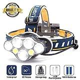 SYOSIN LED Stirnlampe USB Wiederaufladbar Kopflampe,Superheller,Wasserdicht Leichtgewichts Mini Kopfleuchte für Camping,Fischen,Keller,Laufen,Joggen,Wandern,Lesen,Arbeiten (Stirnlampe1)