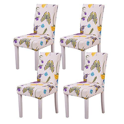 YISUN Universal Stretch Stuhlhussen 4er 6er Set Stuhlbezug für Stuhl Esszimmer