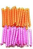 Lockenwickler über Nacht für kurze und lange Haare für Damen in Orange und Pink (40 Stück)