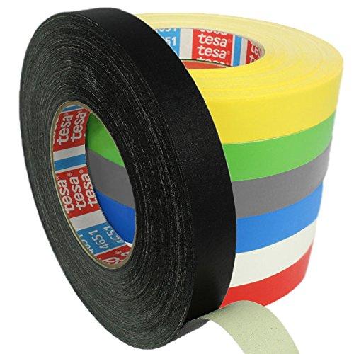 Tesa 4651 Premium Gewebeband verschiedene Breiten und Farben wählbar / schwarz 12 mm x 50 m