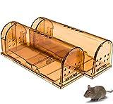 VON HAMELN – Mausefalle lebend 2er Set – die Wiederverwendbare Lebendfalle – tierfreundlich und umweltbewusst Mäuse fangen im Haus oder Garten – transparent mit Belüftung – Deutscher Anbieter (Beige)