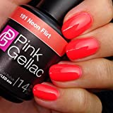 Pink Gellac 191 Neon Flirt UV Nagellack. Professionelle Gel Nagellack shellac für mindestens 14 Tage perfekt glänzende Nägel
