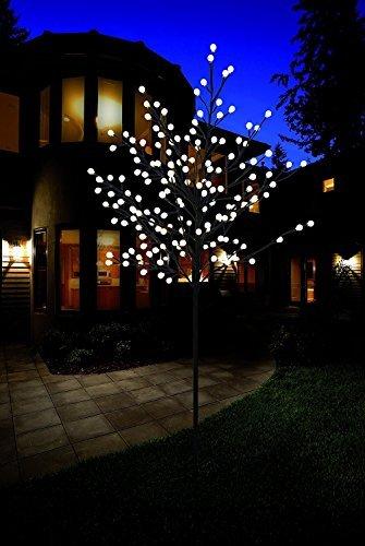Premium LED-Baum / warm-weiß beleuchtet / verschiedene Größen / Lichterbaum für den Innen- und Außenbereich (150 cm mit 200 LED)