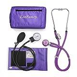 LotFancy Aneroid-Blutdruckmessgerät und Doppelkopf-Stethoskop, Manuelles Blutdruckmessgerät, Manschette für Erwachsene (10-16 ')