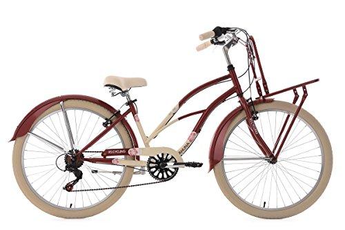 KS Cycling Damen Beachcruiser Cargo Cruiser Kahuna Fahrrad, rot, 26 Zoll