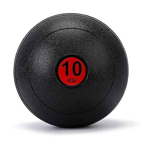 ZELUS Medizinball Slamball 5kg 10kg 15kg robuste strukturierte Oberfläche Trainingsball Fitnessball Gewichtsball Gymnastikball Krafttraining Ausdauertraining schwarz