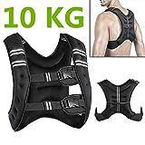 10KG,Verstellbare Gewichte Weste Laufweste Trainingsweste für Kraft Training Fitness und Laufen