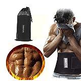 NAVANINO Fitnessgürtel Fitness Gürtel Verstellbarer Neopren Sauna Bauchweggürtel zur Fettverbrennung und zur Rückenstabilisierung (S)