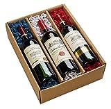 Weinpräsent Geschenkset'Weine aus Bordeaux' trocken (3 x 0.75 l)