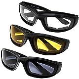 Yooyee Sonnenbrillen Motorradbrille , 3 Stücke Allwetter Schutz Motorrad Fahrerschutzbrille für Outdoor-Aktivität Sport (Sortiment Pack)