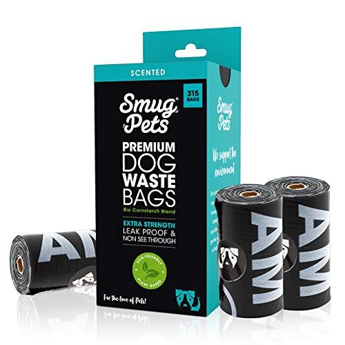 SmugPets - Hundekotbeutel mit Duft - 15 Beutel/Rolle - 315 Beutel - extragroß