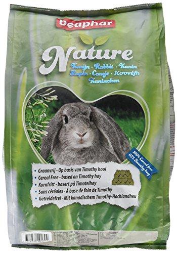 Nature Kaninchen   Getreidefreies Kaninchenfutter   Mit getrockneten Kräutern & kanadischem Timothy Heu   Ohne Konversierungsstoffe   3 kg