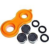 Sanixa JL1024C3XTOOL 3er Set Wasser-Sparer Wasserhahn inkl. Werkzeug | Strahlregler Mischdüse Luftsprudler Spareinsatz Wasserhahn-Aufsatz SX1