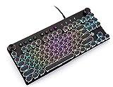 STOGA Mechanische Tastatur, Anti-Ghosting-Computertastatur, kabelgebundene USB 2.0-Retro-Gaming-Tastatur mit 87 Tasten, Legierungstafel, RGB-LED-Hintergrundbeleuchtung