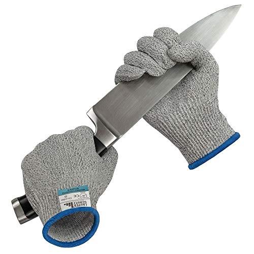 LauterSchutz Schnittfeste Premium Handschuhe aus Kreuzfaser-PE-Stoff - Level 5 SCHNITTSCHUTZ [Deutscher Hersteller] Größe S bis XL (M)