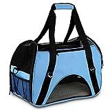 Hundetasche,Vicstar Hundetragetasche, Katzentragetasche, Tragetasche Transportbox, Oxford Tuch + Atmungsaktiv Netzfenster Transporttasche für Kleine Hunde und Katzen, Meistens 4 KG (Ohne Polster)